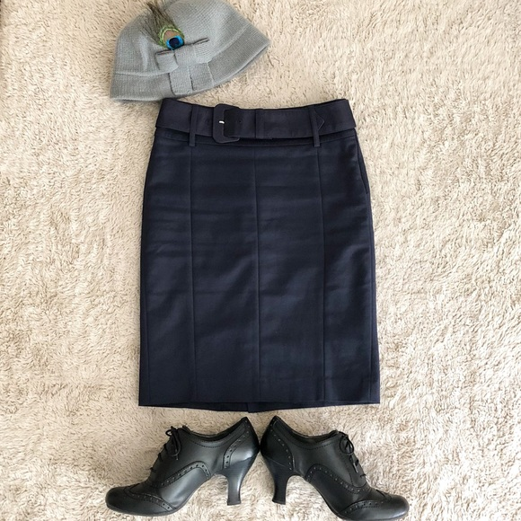 b5c2b80b6 Mango Skirts | Mng By Navy Blue Pencil Skirt | Poshmark